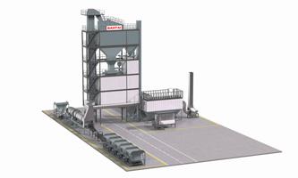 3D structure of asphalt mixing plant batch mix plant