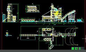 asphlat mixing plant layout drawing